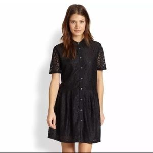 Equipment Femme Naomi Black Lace Dress
